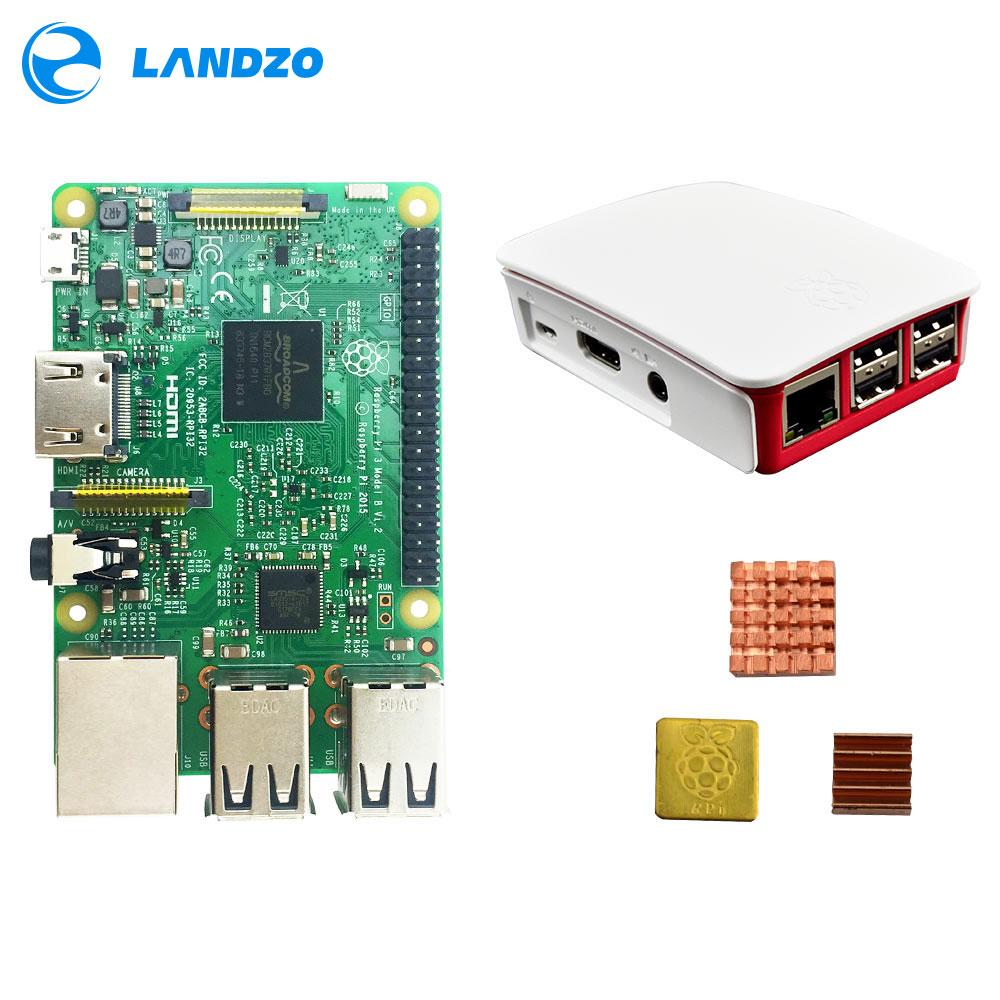 B Raspberry Pi 3 Starter Kit с Raspberry Pi 3 Модель B + оригинальный pi 3 чехол + радиаторы pi3 b/pi 3b с Wi-Fi и bluetooth