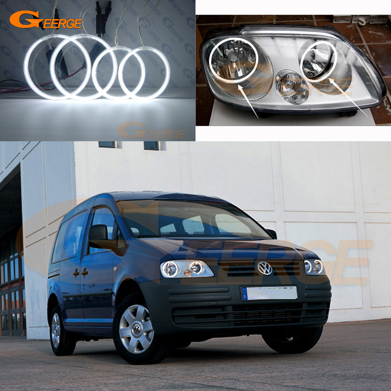 For Volkswagen VW Caddy 2004 2005 2006 2007 2008 2009 Excellent Angel Eyes Ultra bright illumination ccfl angel eyes kit volkswagen new beetle 2005 2009 кабриолет