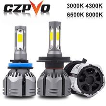 CZPVQ H4 LED H7 H11 3000K 4300K 6500K 8000K H8 H1 880 H3 9005 9006 Car Headlight Bulb Auto Fog Light 60W 9000LM Headlamp 12V
