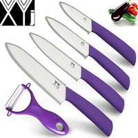 XYJ Brand Ceramic Knife Set White Blade Kitchen Knives Chef Slicing Utility Paring Knife With Peeler