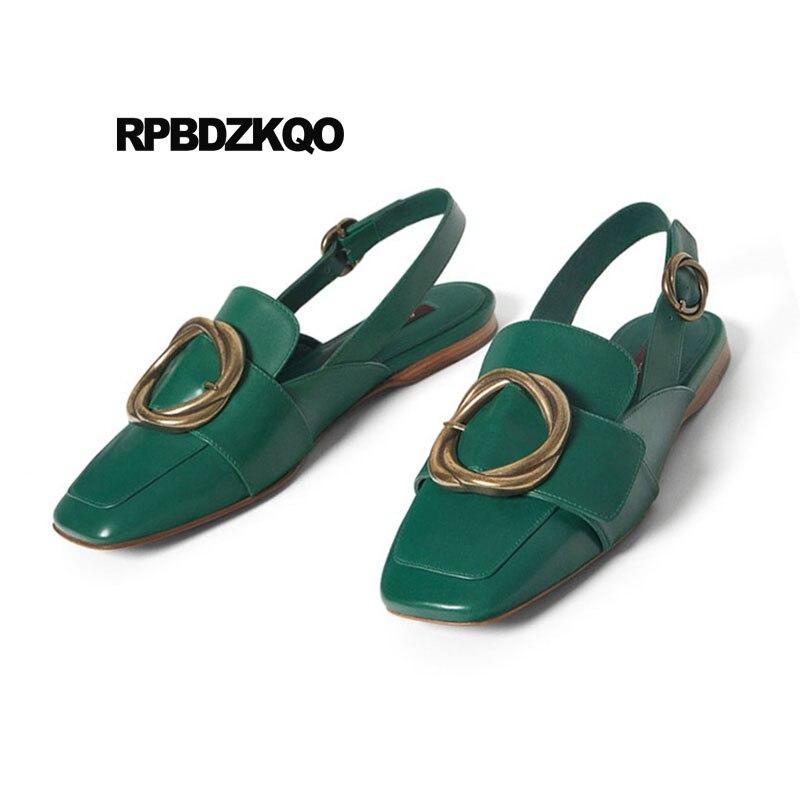 Del Zapatos Sandalias Verde Últimas Chino Vintage 35 Tamaño dCQrtsh