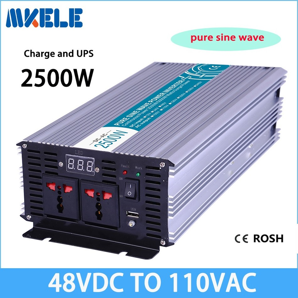 MKP2500-481-C 2500w solar inverter off grid dc ac 48v 110v pure sine wave solar inverter voltage converter with charger p800 481 c pure sine wave 800w soiar iverter off grid ied dispiay iverter dc48v to 110vac with charge and ups