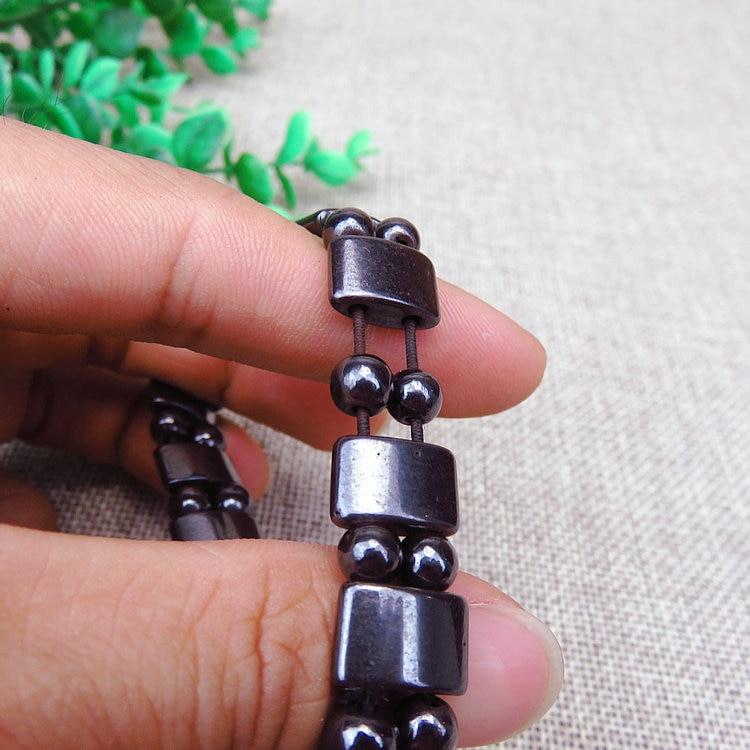 2018 5 Pcs Fashion Men Women Charm Black Magnetic Hematite Bracelet Healthy Bracelets Massage Gifts LL@17