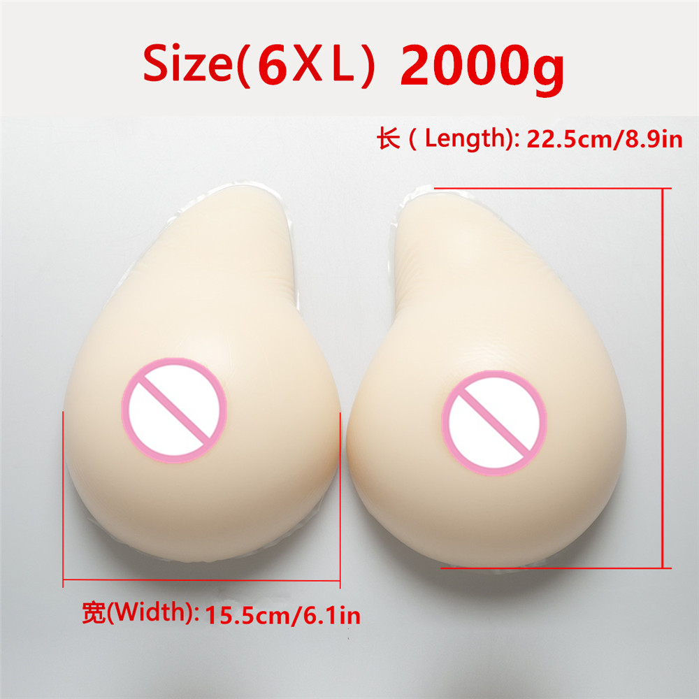 White Crossdressing Silicone Breast Form 2000g/Pair  Drag Queen Breast Fake Boobs Shemale Transvestite False Boobs ProsthesisWhite Crossdressing Silicone Breast Form 2000g/Pair  Drag Queen Breast Fake Boobs Shemale Transvestite False Boobs Prosthesis