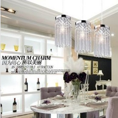 free shipping Modern restaurant lights chandelier crystal table lamp lights three single- aisle corridor light