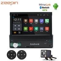 Универсальный 7 дюймов Wi Fi автомобильное dvd плеер gps навигации Bluetooth автомобильного MP5 плеер AM FM RDS Авто Радио руль