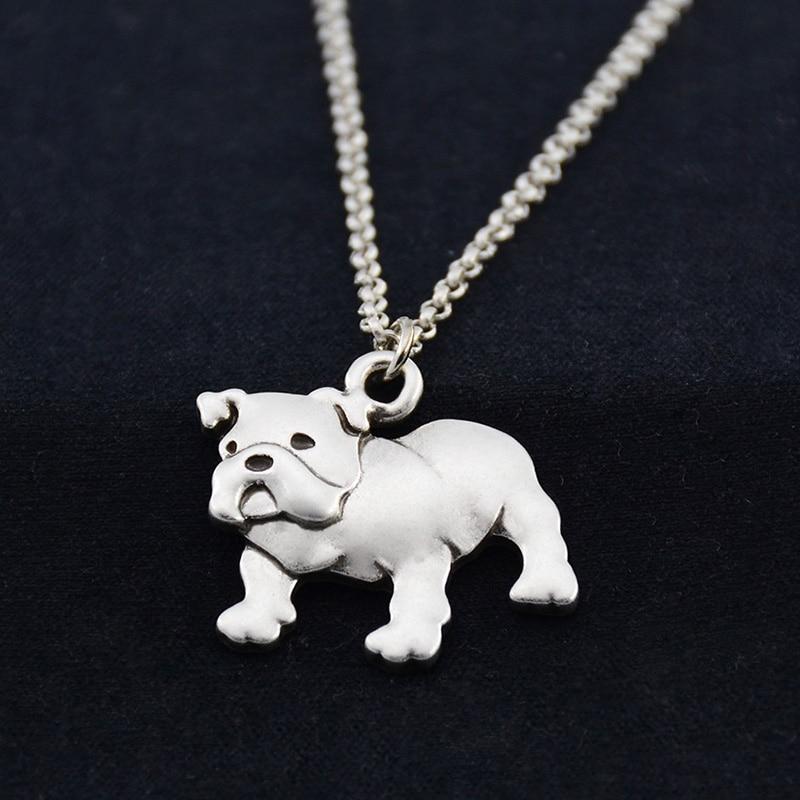 Fei Ye Paws Punk angleški buldog pes Obesek za ogrlice za ženske - Modni nakit - Fotografija 4