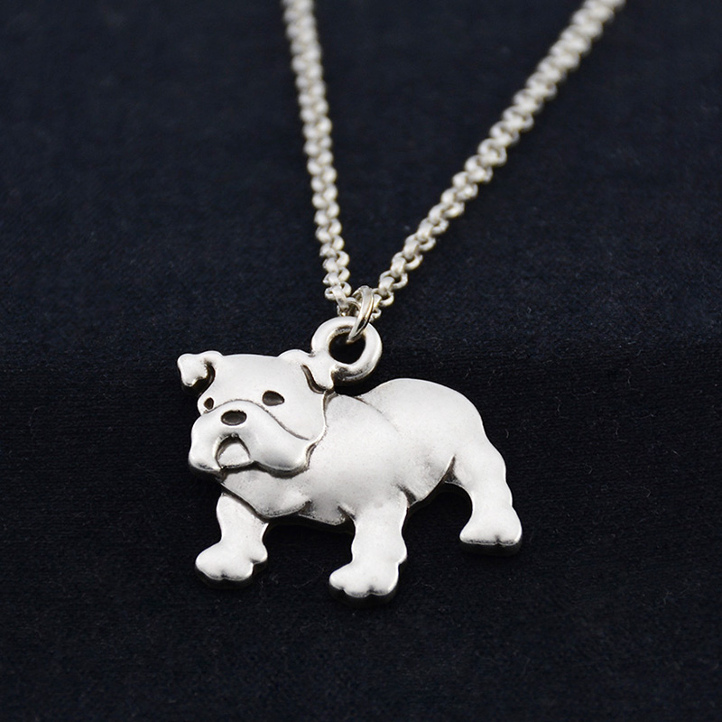 Fei Ye Paws Punk English Bulldog Dog Pet ქალის - მოდის სამკაულები - ფოტო 4
