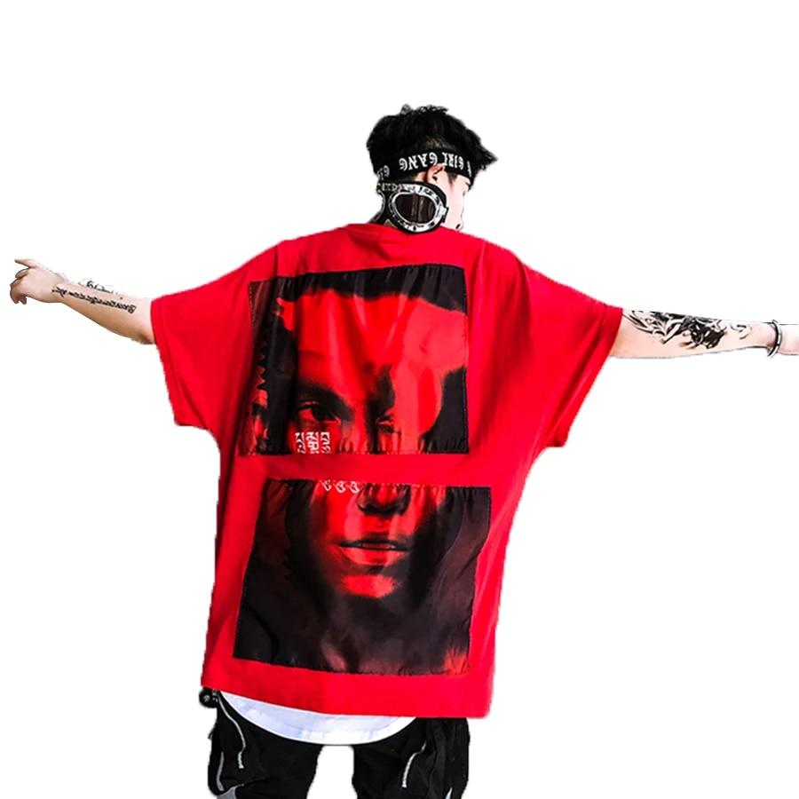 streetwear t shirt oversize homme vintage