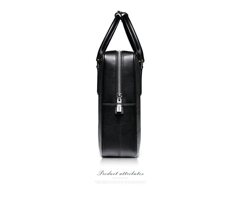 Haute Portable De En Bvp Ordinateur Cuir Gray D'affaires Véritable J40 Sac Marque Messenger Noir 14 Mallette Qualité Hommes Pouce zEAqgA