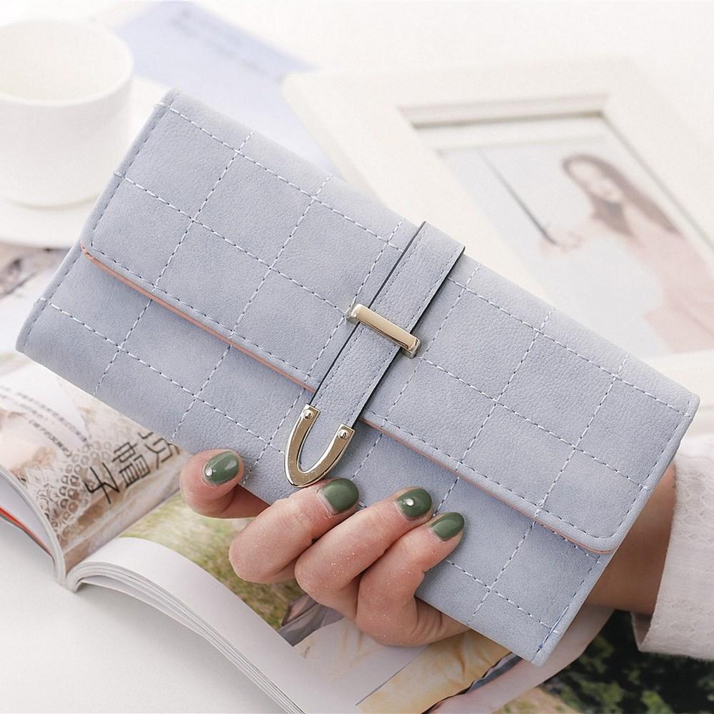 Leather Wallets Women Wallet Long Designer Coin Pu Ladies Money Bag Lady Card Holder Hasp Coin Pocket  Multi Color Portfel Women casual weaving design card holder handbag hasp wallet for women