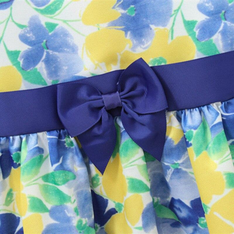 Primavera Otoño Vestido de niña Vestido floral Estampado de manga - Ropa de ninos - foto 4