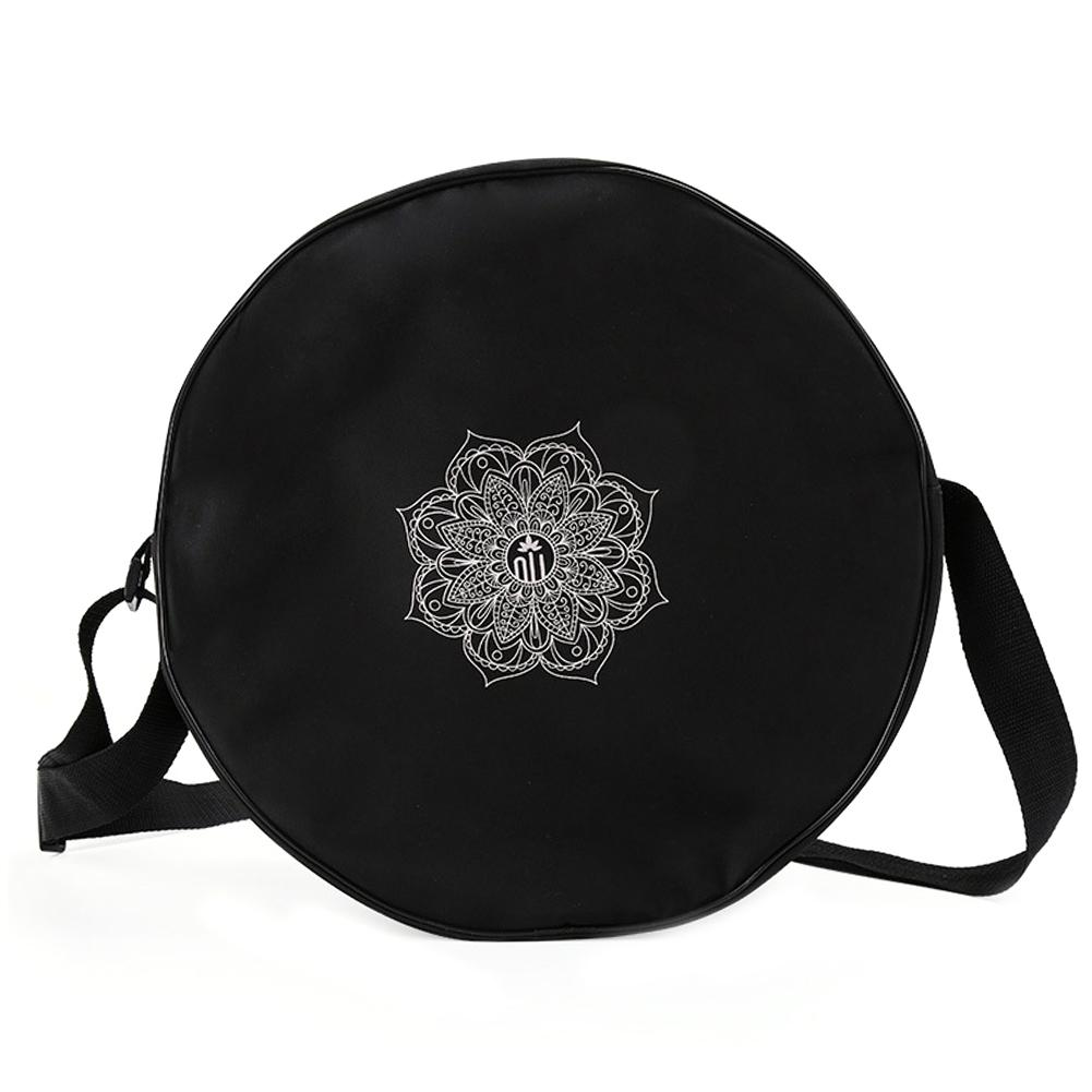 Yoga Wheel Bag Nylon Mandala Flower 6CM/14.17IN Yoga Circle Bag Large Capacity Double Zipper Pilates Wheel Backpack Fitness Bag