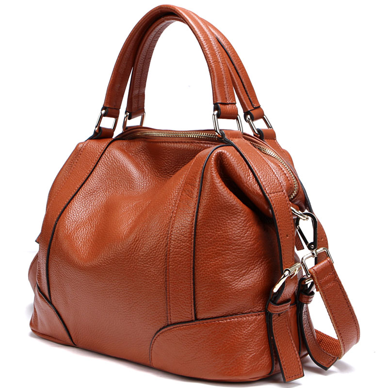 100% Top Genuine Leather Women\'S Messenger Bags First Layer Of Cowhide Crossbody Bags Female Designer Shoulder Tote Bag PS01