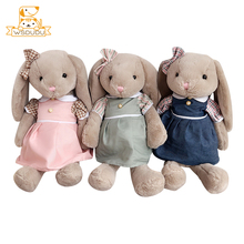 Sweater Rabbit Soft Big Long Ears Plush Stuffed Toys Cute Animals Couple Bunny Baby Pillow Kid For Children Adorable Sleep Gifts