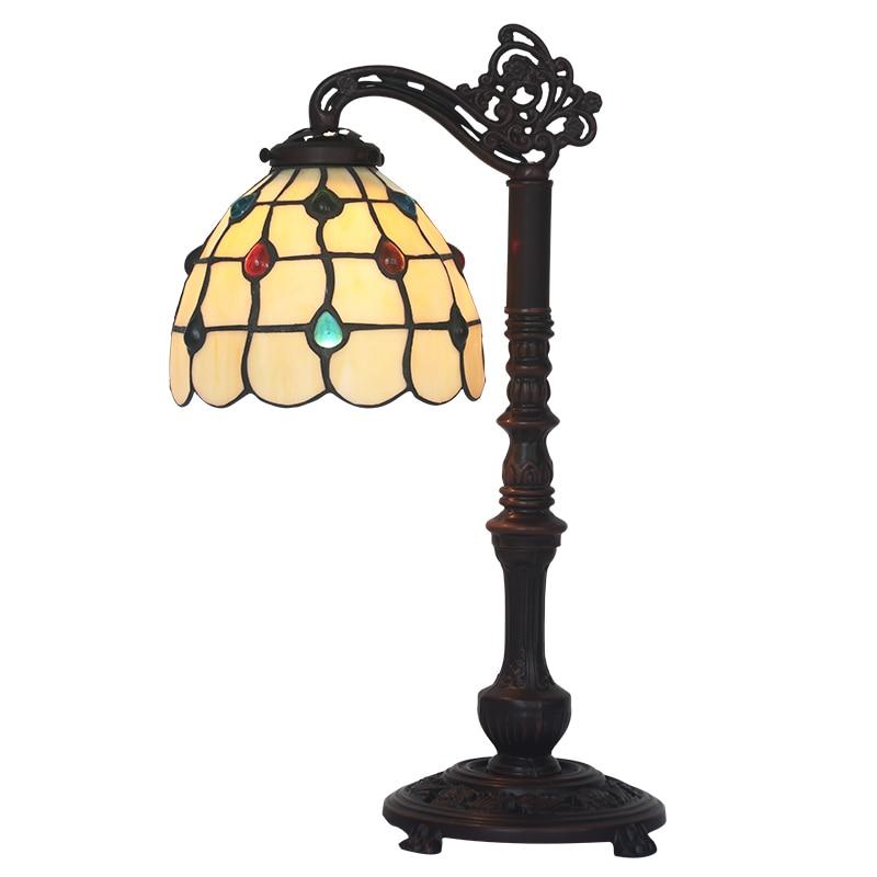 FUMAT Antique GlassTable Lampe Kunstnerisk Kreativt Farvet Glas - Indendørs belysning - Foto 2