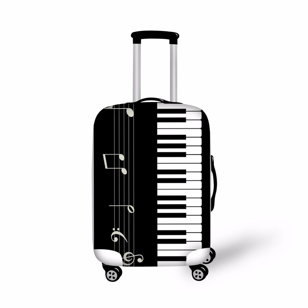 Cool Luggage Protective Cover Music Piano Print Travel Accessories for 18-30 Inch Trolly Suitcase Cover Dustproof Bags