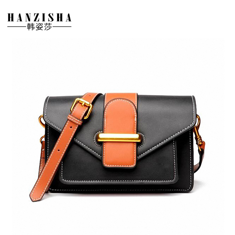 2018 Fashion Women Messenger Bag Cow Leather Panelled Pattern Famous Brand Bag Women Flap Bag Luxury Design Female Crossbody Bag цена