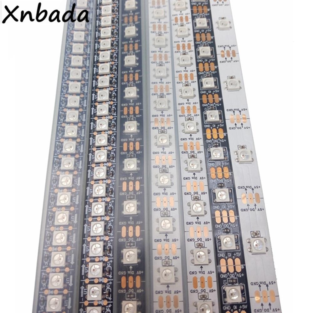 HTB1gk8YgnqWBKNjSZFAq6ynSpXa9 1m 2m 3m 4m 5m WS2812B WS2812 Led Strip,Individually Addressable Smart RGB Led Strip,Black/White PCB Waterproof IP30/65/67 DC5V