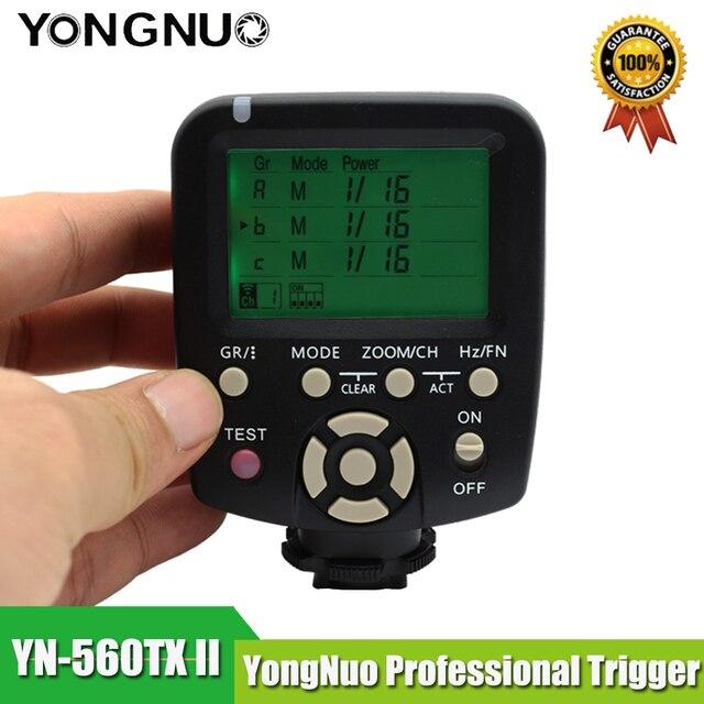 YN560TX II YN560-TX II C Không Dây Điều Khiển Flash và Commander cho Yongnuo YN-560III YN560TX Speedlite cho Canon DSLR Máy Ảnh