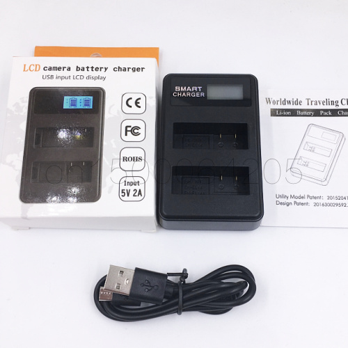 LCD Dual Charger for NP-FW50 For <font><b>Sony</b></font> <font><b>Alpha</b></font> 6300 <font><b>Alpha</b></font> <font><b>6500</b></font> ILCE-QX1 <font><b>Alpha</b></font> 7 7R 7R II 7S a7R a7S a7R II a5000 a5100 a6000 a6300 image