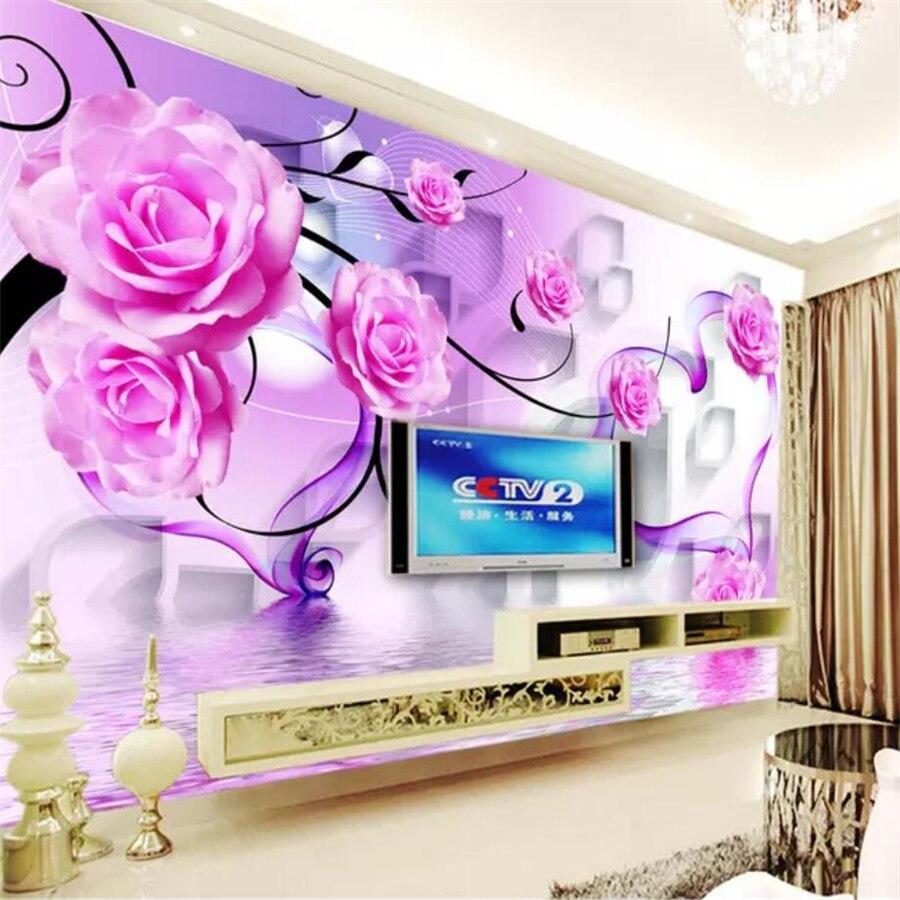 beibehang papel de parede Custom Wallpaper 3d Photo Murals Rose Rewind Diamond sofa Background Wall wallpaper