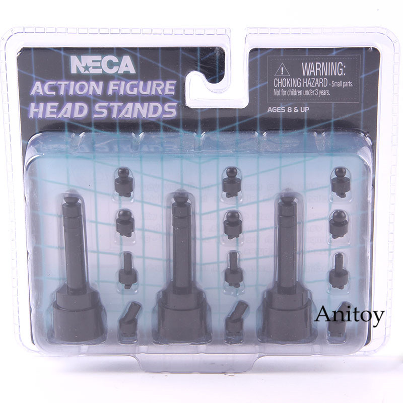 "NECA Action Figure Head Stands Accessories 6-8"" Scale Display Set 3-Pack"