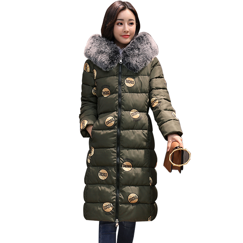 SWENEARO Reversible Coat New Winter Jacket women Slim Long Parkas Thick Warm Cotton Padded Large Fur Hooded Casual coat feminina winter jacket women 2017 new fashion female long coat thick warm padded cotton jacket parkas casual hooded jacket plus size loo
