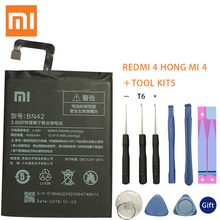 Xiao Mi Original Phone Battery BN42 For Xiaomi Redmi Hongmi 4 Original Replacement Batteries High Capacity 4000mAh Free Tools недорого