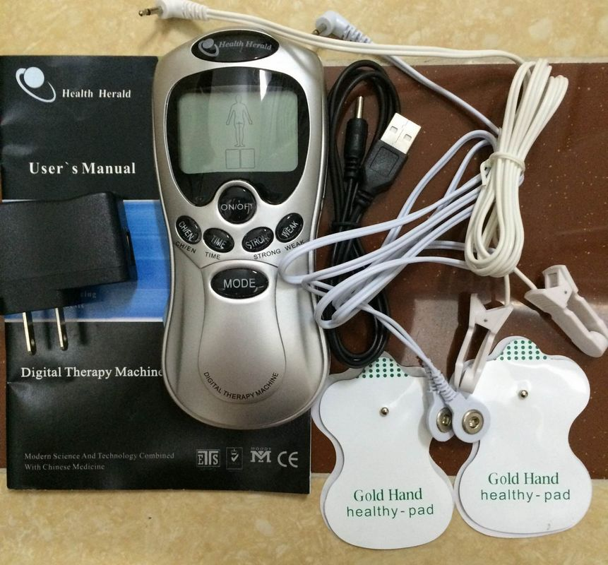 Digital Therapy Machine Acupuncture Massager electronic pulse massager health care equipment+1pc ear clip wire acupunctural digital therapy machine electronic massager