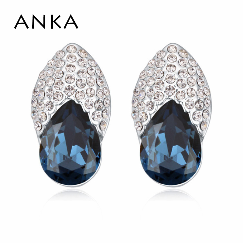 ANKA Promotion Limited Romantic Stud Earring for Women charm Jewelry Stud Earring Main Stone Crystals from Austria #111568