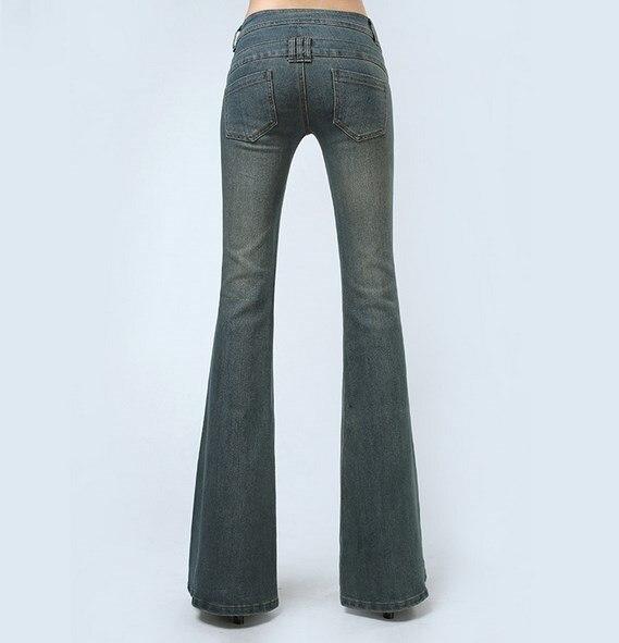 Long Pantalon Bas Flare Évasés Vintage Jeans Haute Vêtements Moulant Super De Bleu Cloche Taille Big Femmes Mode FSnxTHWH