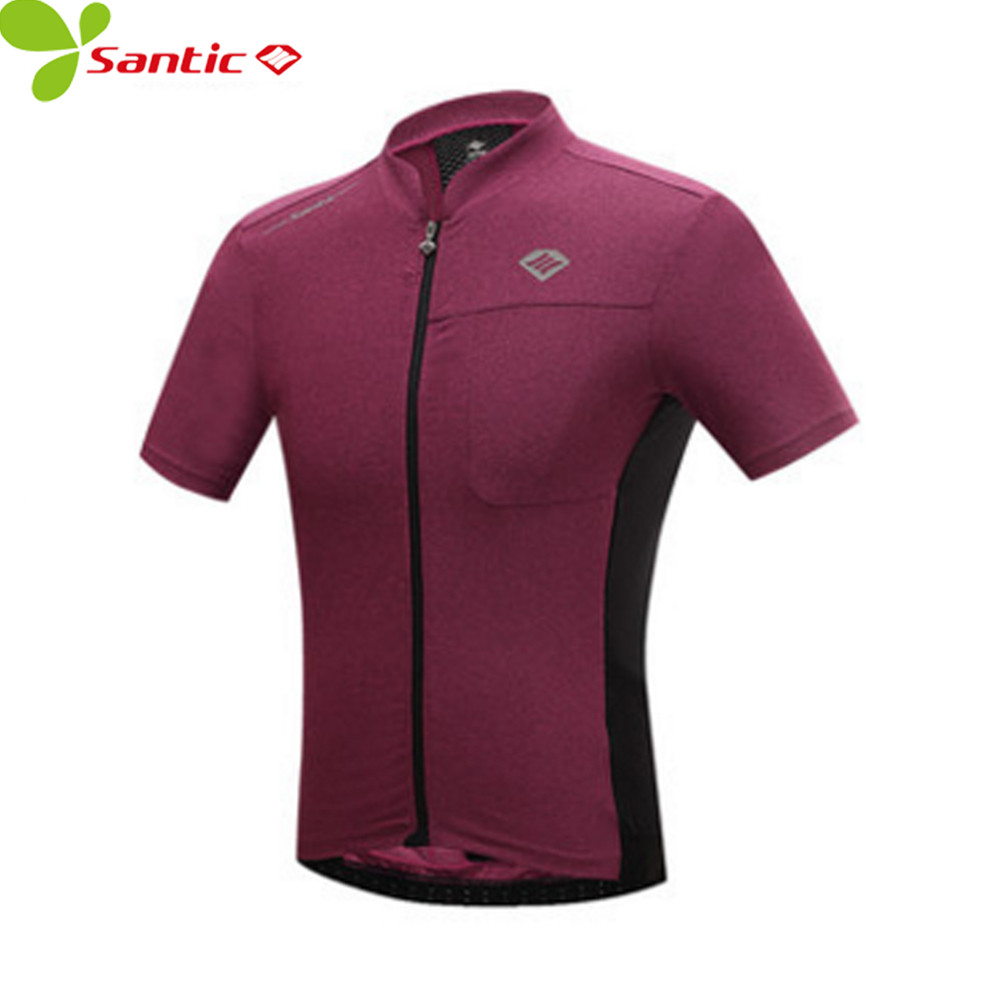 Santic Men's Cycling Jersey Short Sleeve Breathable Quick Dry mtb jerseys Bicycle Jerseys Shirts ropa ciclismo cycling clothing polyester summer breathable cycling jerseys pro team italia short sleeve bike clothing mtb ropa ciclismo bicycle maillot gel pad