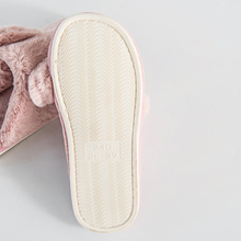 Rabbit plush couples slippers women shoes fluffy ladies house slippers zapatos mujer slides pantufa home shoes