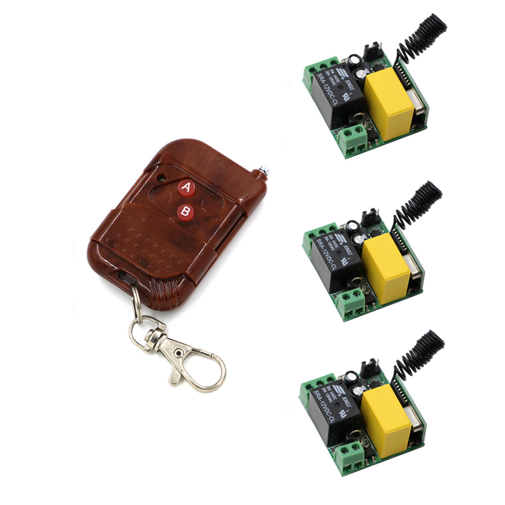 New Remote Control Switch AC220V Relay Receiver Transmitter Wireless Power Switch Radio Controlled Switch 315MHZ/433Mhz 315 433mhz 12v 2ch remote control light on off switch 3transmitter 1receiver momentary toggle latched with relay indicator