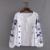 Mulheres moda Bordados Branco Blusas Camisa Étnico Franjas de Rendas Para Cima Em Torno Do Pescoço de Manga Comprida Protetor Solar blusas mujer BBWM1671