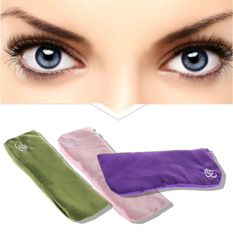 Yoga Eye Pillow Silk Cassia Seed Lavender Massage Relaxation Mask Aromatherapy