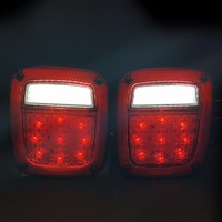Fits Jeep Wrangler Tail Lamp Assemblies Left Right Led Tail Lights 1998 1999 2000 2001 2002