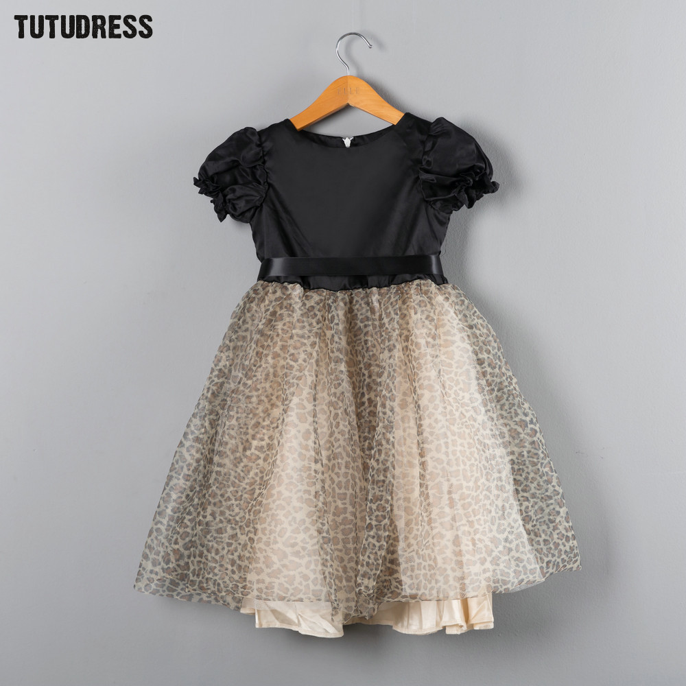 Leopard Toddler Baby Girls Dress Summer Princess Tutu Dress Kids Clothes Girl Birthday Party Dresses Children Clothing Size 1-7Y summer kids girls lace princess dress toddler baby girl dresses for party and wedding flower children clothing age 10 formal
