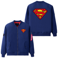 USA size Mens Jacket for Air Superman Logo S Cosplay Coat Zipper Winter Thicken Flight Jackets Flying Suit Outerwear
