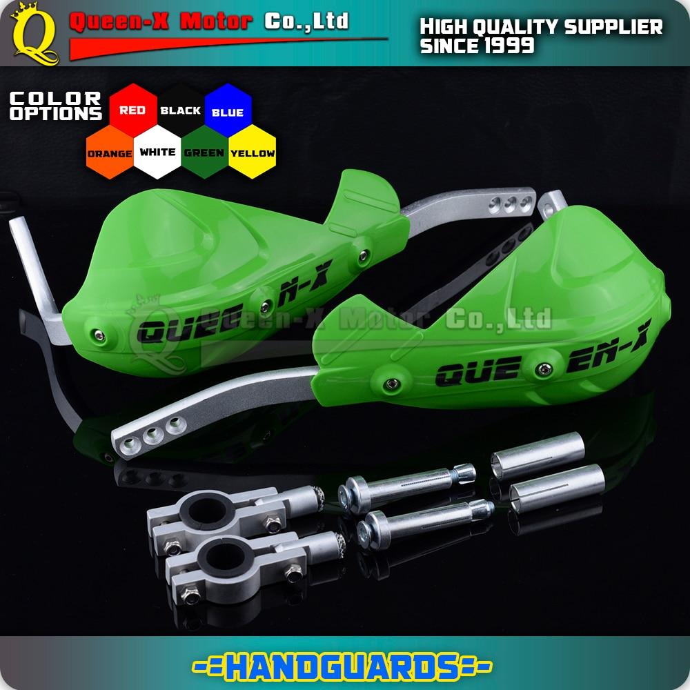 Green Universal Flex Pro handguards for motorbike fit for enduro 7 8 22mm Handlebar 1 1