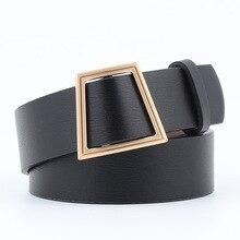 HUOBAO Women Belts For Womens Jeans Fashion Gold Buckle Waist Leather Strap High Quality Designer Belt Cinturon Mujer