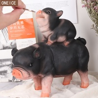 Piggy piggy bank Resin creative children's coin box Home decoration ornaments save money piggy bank Color pig gift box