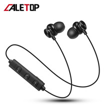 CALETOP Bluetooth Magnetic Earphones Sports Running Stereo Wireless Headphones Handsfree with MIC fone de ouvido For Samsung S10 crscn magnetic bluetooth 4 2 stereo headphones sports earphones with mic