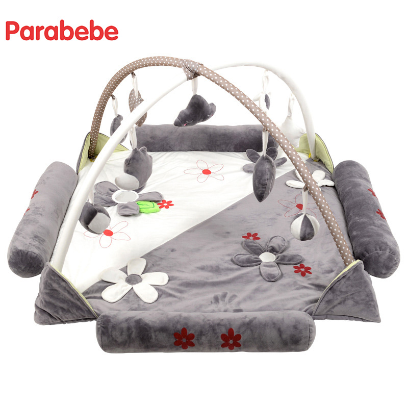 Large super safe music game pad baby game blanket baby crawling mat fitness children's educational toys fitness rack baby music electric game blanket newborn baby game blanket toys with remote control