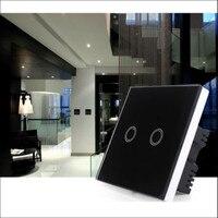 Baoblaze LED Toughened Glass Panel Light EU UK Touch Cntroller Screen Switch 1 Gang White BLK