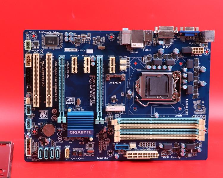 Free shipping original desktop motherboard for GIGABYTE GA-B75-D3V DDR3 LGA1155 B75-D3V for I3 I5 I7 22nm CPU 32GB B75 Boards