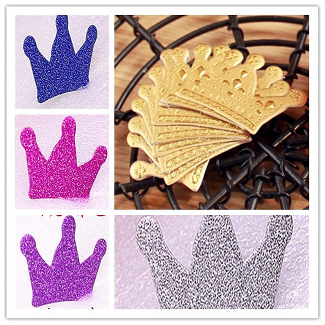 20 PCS Bake Cake Decorate Gold Crown Birthday Card Happy Insert Flag West Point