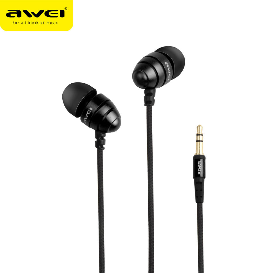 Awei Wired Stereo In Ear Headphone And In-Ear Earphone For Phone iPhone Samsung Head Headset Earpiece Kulakl K Auriculares Mini