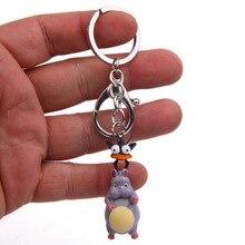 새로운 귀여운 치히로 떨어져 비행 마우스 만화 벨 인형 일본 애니메이션 액션 피규어 열쇠 고리 열쇠 고리 홀더 지갑 가방